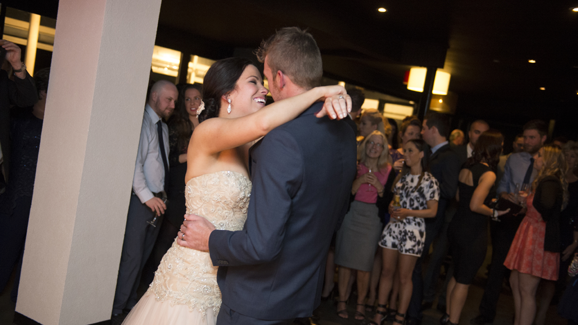 bride and groom share first dance at all smiles sorrento