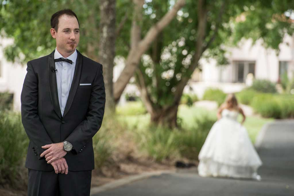 first look wedding photo gold coast