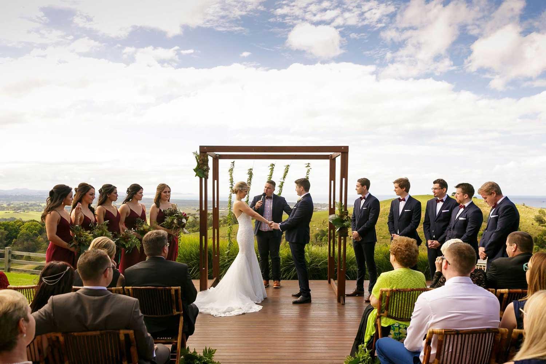 Horizon Byron Bay wedding ceremony