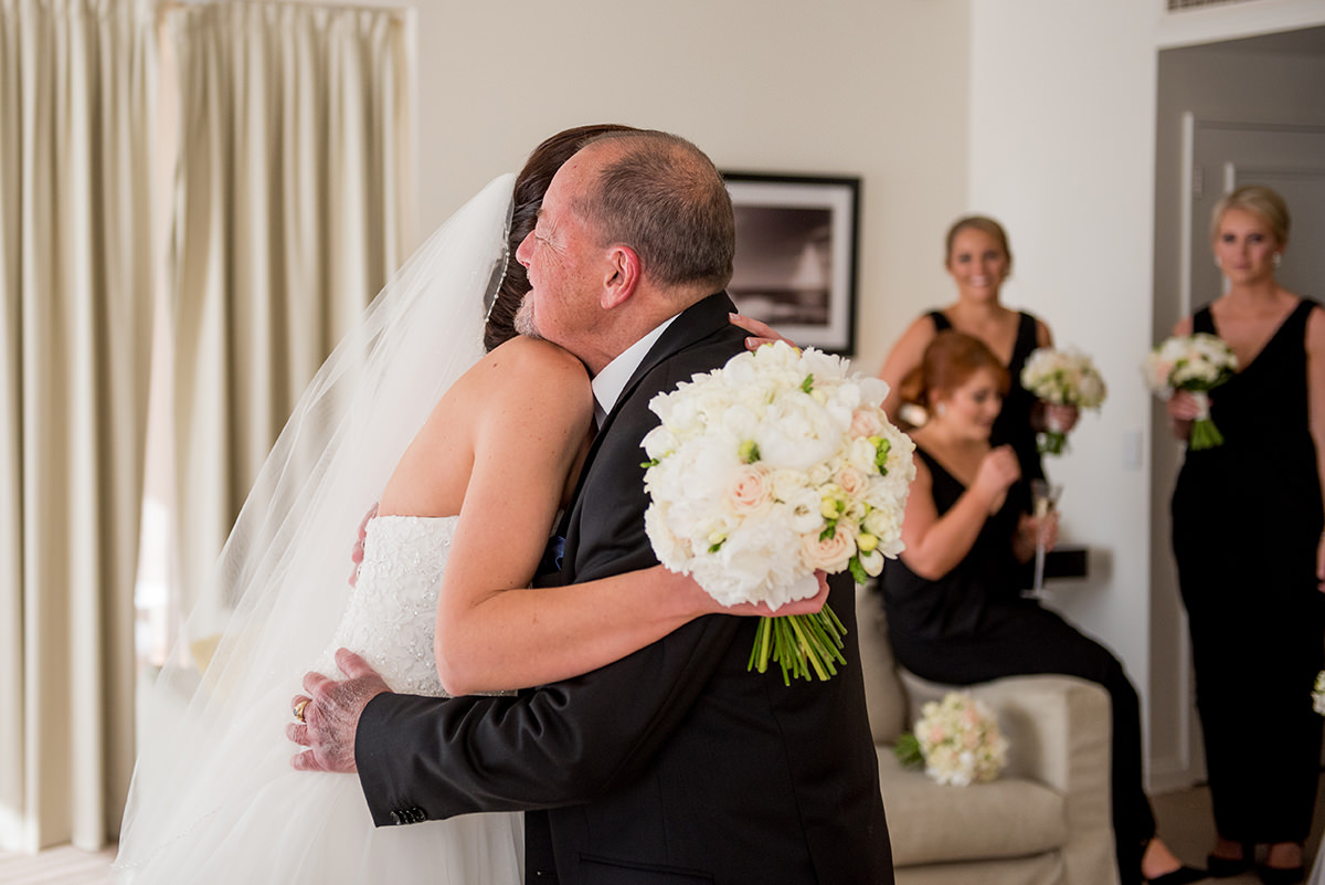 father of the bride tears